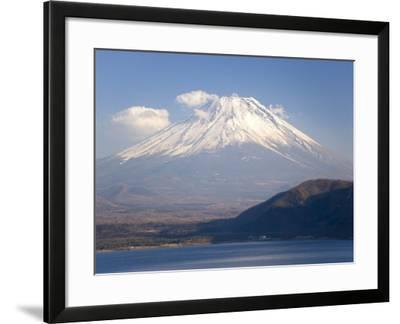 Mount Fuji, Viewed across Mototsu-Ko, One of the Lakes in the Fuji Go-Ko Region, Honshu, Japan-Gavin Hellier-Framed Photographic Print