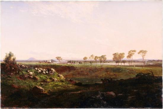 Mount Fyans Woolshed (The Woolshed Near Camperdow), 1869-Louis Buvelot-Giclee Print