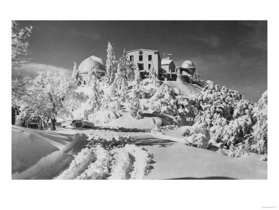 Mount Hamilton, California Lick Observatory Photograph - Mount Hamilton, CA-Lantern Press-Art Print