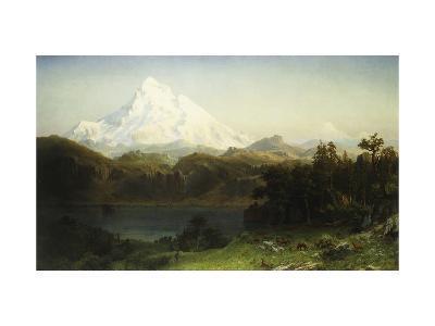 Mount Hood in Oregon-Albert Bierstadt-Giclee Print
