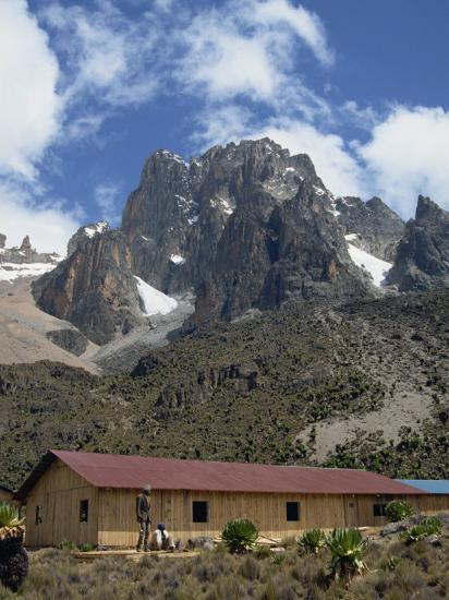 Mount Kenya and the Peaks of Nelion on the Left and Batian on Right, Kenya, East Africa-Poole David-Photographic Print