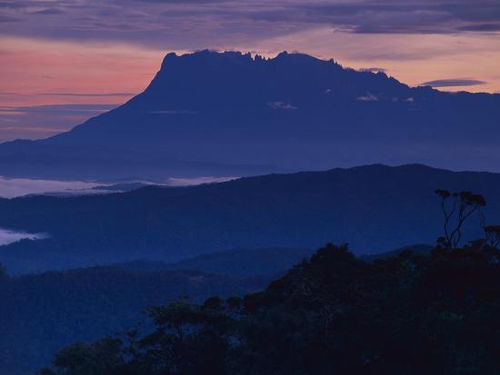 Mount Kinabalu at Dawn, Sabah, Borneo-Frans Lanting-Photographic Print