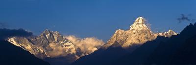 Mount Lhotse, 8501 Metres and Mount Ama Dablam, 6856 Metres,, Khumbu (Everest) Region, Nepal-Ben Pipe-Photographic Print