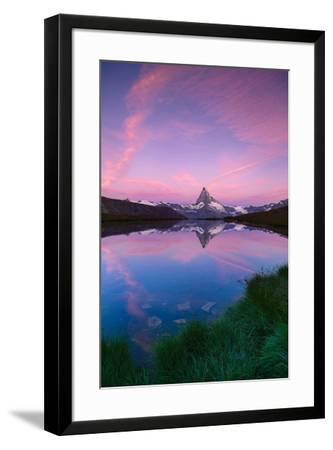 Mount Matterhorn, Stellisee, Zermatt, Switzerland-ClickAlps-Framed Photographic Print