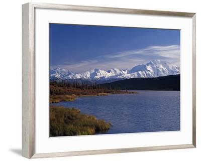 Mount Mckinley, 2032Ft, from Reflection Lake, Denali National Park-John Warburton-lee-Framed Photographic Print