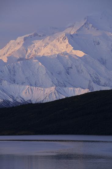 Mount McKinley, Wonder Lake, Sunrise, Denali National Park, Alaska, USA-Gerry Reynolds-Photographic Print