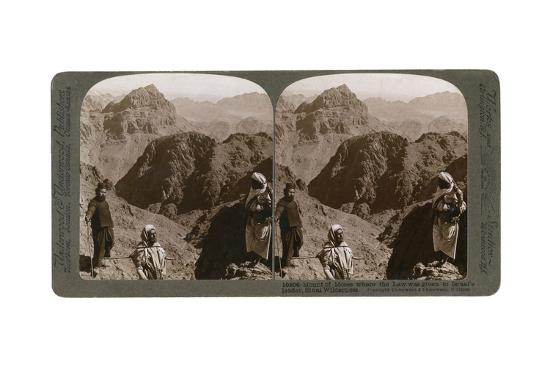Mount of Moses, Where the Law Was Given to Israel's Leader, the Sinai Wilderness, 1900s-Underwood & Underwood-Giclee Print