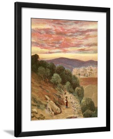 Mount of Olives and Jerusalem-Henry Andrew Harper-Framed Giclee Print
