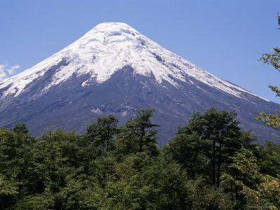 Mount Osorno, a Volcano in Vicente Rosales National Park, Lake District, Chile, South America-Ken Gillham-Photographic Print