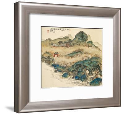Mount Penglai (Mountain of Immortal), 1924-Tessai Tomioka-Framed Giclee Print