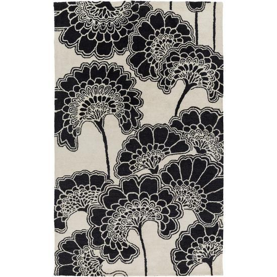 Mount Perry Area Rug - Charcoal/Beige 5' x 8'--Home Accessories