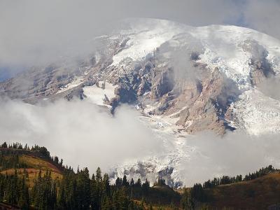 Mount Rainier in the Clouds-Craig Tuttle-Photographic Print