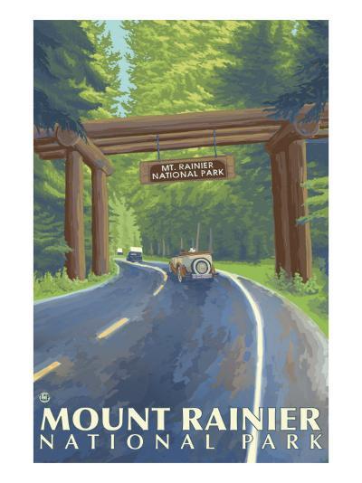 Mount Rainier, Nisqually Entrance-Lantern Press-Art Print