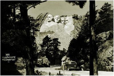 Mount Rushmore Memorial, C.1941-42--Photographic Print