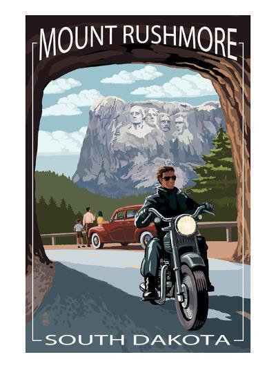 Mount Rushmore National Memorial, South Dakota - Tunnel Scene-Lantern Press-Art Print