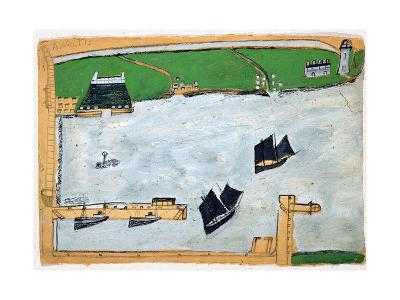 Mount's Bay with St. Michael's Mount-Alfred Wallis-Giclee Print