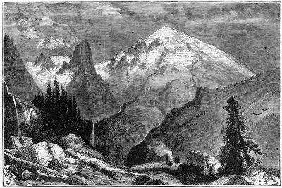 Mount Shasta, Northern Peak of the Sierra Nevada, California, USA, C1870--Giclee Print