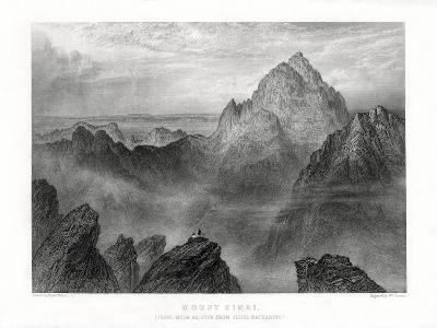 Mount Sinai: Jebel Musa as Seen from Jebel Katharina, 1887-W Forrest-Giclee Print