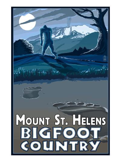 Mount St. Helens - Bigfoot Country-Lantern Press-Art Print
