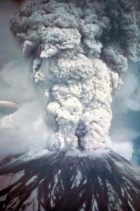 Mount St. Helens on its First Day of Eruption May 18, 1980