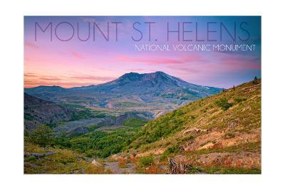 Mount St. Helens, Washington - Twilight Scene-Lantern Press-Art Print