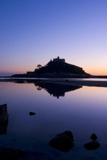 Mount St Michael Cornwall England at sunset-Charles Bowman-Photographic Print