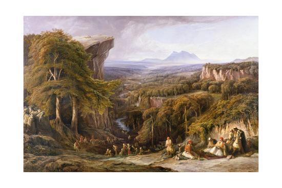Mount Tomohrit, Albania-Edward Lear-Giclee Print