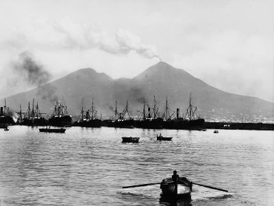 Mount Vesuvius Seen from the Quay of Naples--Photographic Print