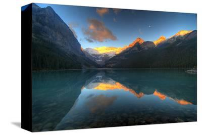 Mount Victoria Glacier Alberta--Stretched Canvas Print