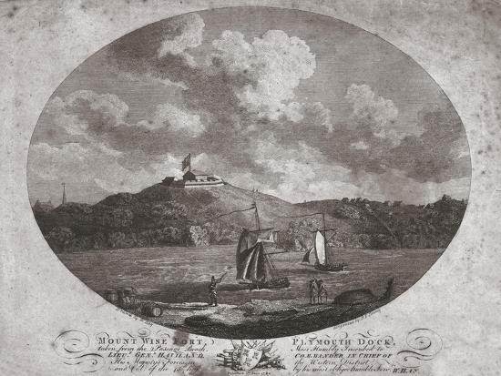 'Mount Wise Fort, Plymouth Dock.', 1780-Benjamin Thomas Pouncy-Giclee Print