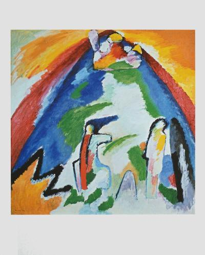 Mountain , 1909-Wassily Kandinsky-Collectable Print