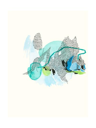 Mountain Abstract 5-Natasha Lawyer-Premium Giclee Print