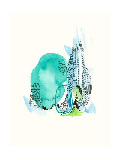 Mountain Abstract 6-Natasha Lawyer-Premium Giclee Print