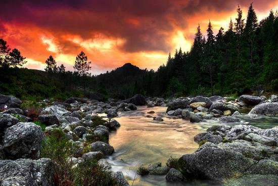 mountain-and-river-at-sunset