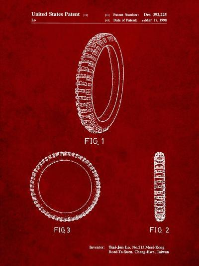 Mountain Bike Tire Patent-Cole Borders-Art Print
