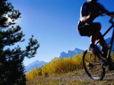 Mountain Biker in Autumn, Canmore, Canada-Philip & Karen Smith-Photographic Print