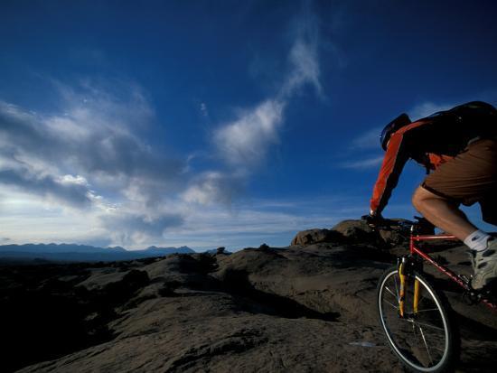 Mountain Biking on the Moab Slickrock Bike Trail, Navajo Sandstone, Utah, USA-Jerry & Marcy Monkman-Photographic Print