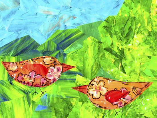 Mountain Birds-Wolf Heart Illustrations-Giclee Print