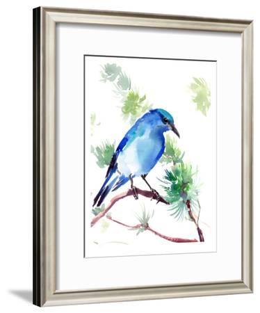 Mountain Bluebird-Suren Nersisyan-Framed Art Print