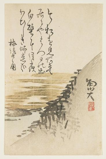 Mountain by the Ocean, C.1830-44-Sat? Gyodai-Giclee Print