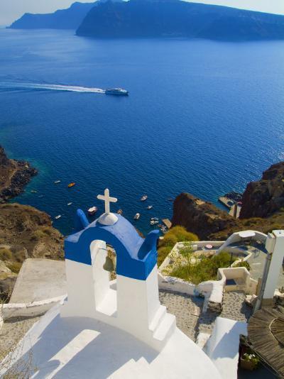 Mountain Cliffs Oia, Santorini, Greece-Bill Bachmann-Photographic Print