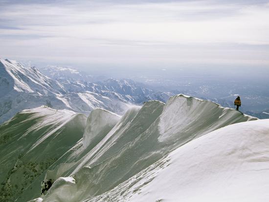 Mountain Climber Hikes along a Mountain Ridge in Denali-Bill Hatcher-Photographic Print