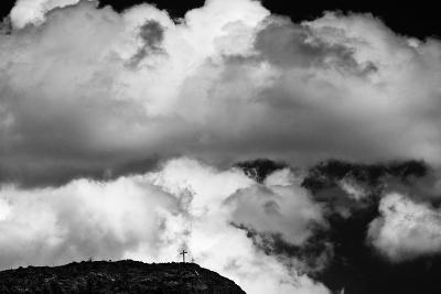 Mountain Cross Over Santo Nino Chapel, New Mexico-Steve Gadomski-Photographic Print