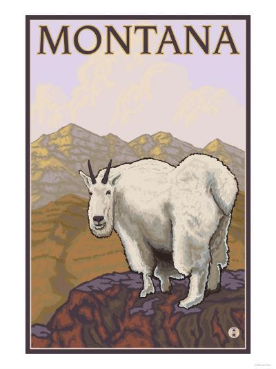 Mountain Goat, Montana-Lantern Press-Art Print