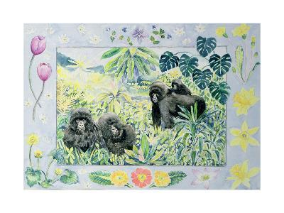 Mountain Gorillas (Month of March from a Calendar)-Vivika Alexander-Giclee Print