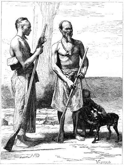 Mountain Huntsmen, Formosa (Taiwa), 19th Century-D Maillard-Giclee Print