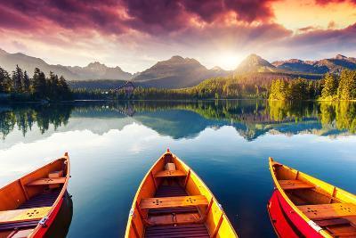 Mountain Lake In National Park High Tatra-Leonid Tit-Premium Photographic Print