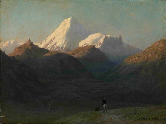 Mountain Landscape, 1868-Lev Felixovich Lagorio-Giclee Print