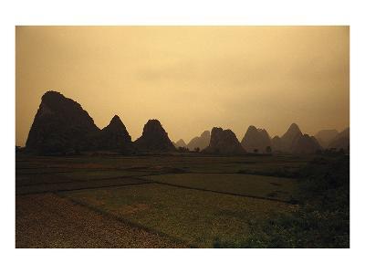 Mountain Landscape Guilin China--Art Print
