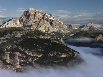 Mountain Landscape, Hohe Gaisl (Mountain), South Tirol, Italy-Rainer Mirau-Photographic Print